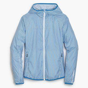 New Balance J. Crew stripe hood windbreaker jacket